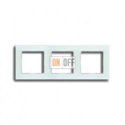Рамка тройная, для горизон./вертик. монтажа Jung A Creation, стекло белое матовое AC583GLWMT