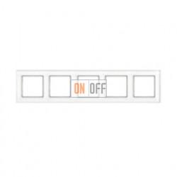 Рамка пятерная, для горизон./вертик. монтажа Jung A Creation, белое стекло AC585GLWW