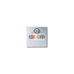 Розетка телевизионная проходная TV SAT FM, диапазон частот от 4 до 2400 MГц S4110 - A561PLSATAL