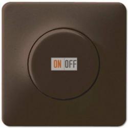 Светорегулятор поворотно нажимной 20-420 Вт. для ламп накаливания и галог.220В и  универсальный LED 3-100Вт  1731DD - CD1540BR