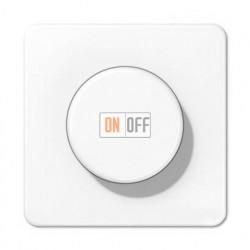 Светорегулятор поворотно нажимной 20-420 Вт. для ламп накаливания и галог.220В и  универсальный LED 3-100Вт  1731DD - CD1540WW