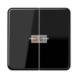 Выключатель двухклавишный с подсветкой, 10 А / 250 В~ 505u5 - CD595KO5SW