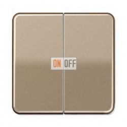 Выключатель двухклавишный, 10 А / 250 В~ 505u - CD595GB