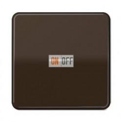 Выключатель одноклавишный с подсветкой, универс. (вкл/выкл с 2-х мест) 10 А / 250 В~ 506u - 90 - CD590KO5BR