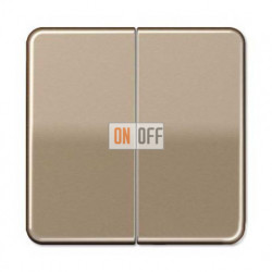 Выключатель двухклавишный, проходной (вкл/выкл с 2-х мест) 10 А / 250 В~ 509u - CD595GB