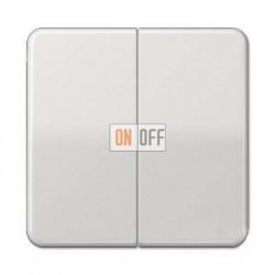 Выключатель двухклавишный, проходной (вкл/выкл с 2-х мест) 10 А / 250 В~ 509u - CD595LG