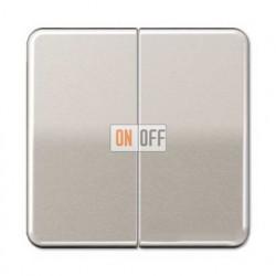 Выключатель двухклавишный, проходной (вкл/выкл с 2-х мест) 10 А / 250 В~ 509u - CD595PT
