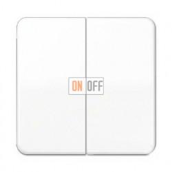 Выключатель двухклавишный, проходной (вкл/выкл с 2-х мест) 10 А / 250 В~ 509u - CD595WW