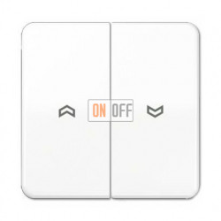 Выключатель управления жалюзи клавишный, 10 А / 250 В~ 509VU - CD595PWW