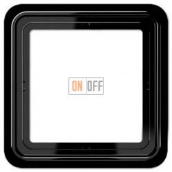 Рамка одинарная Jung CD 500, черный CD581SW