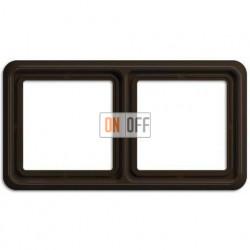Рамка двойная, горизонтальная/вертикальная, Jung CD 500, коричневый CD582BR