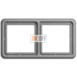 Рамка двойная, горизонтальная/вертикальная, Jung CD 500, серый CD582GR