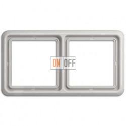 Рамка двойная, горизонтальная/вертикальная, Jung CD 500, светло серый CD582LG