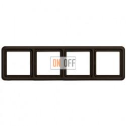 Рамка четверная, горизонтальная/вертикальная, Jung CD 500, коричневый CD584BR