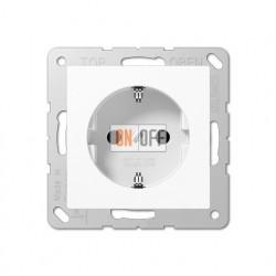 Розетка электрическая с заземлением со шторками 16А Eco Profi, белая EP1420KIWW
