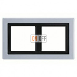 Рамка двойная, для горизон./вертик. монтажа Jung LS-design, алюминий ALD2982