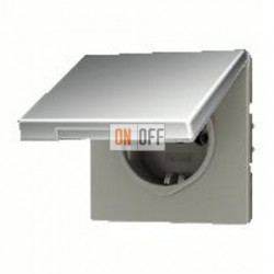 Розетка с заземляющими контактами 16 А / 250 В~, с откидной крышкой и уплотнительной мембраной IP44 551WU - GCR1520KL