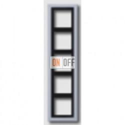 Рамка пятерная, для горизон./вертик. монтажа Jung LS-design, алюминий ALD2985-L