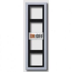Рамка черверная, для горизон./вертик. монтажа Jung LS-design, алюминий ALD2984-L