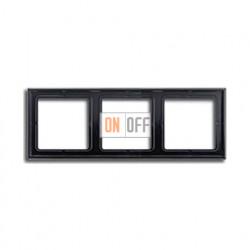 Рамка тройная, для горизон./вертик. монтажа Jung LS 990, черный глянцевый LS983SW
