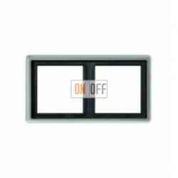 Рамка двойная, для горизон./вертик. монтажа Jung LS 990, алюминий al2982
