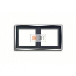 Рамка двойная, для горизон./вертик. монтажа Jung LS 990, блестящий хром gcr2982