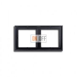 Рамка двойная, для горизон./вертик. монтажа Jung LS 990, черный глянцевый LS982SW