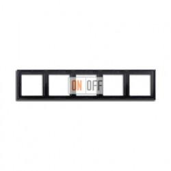 Рамка пятерная, для горизон./вертик. монтажа Jung LS 990, черный глянцевый LS985SW