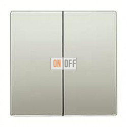 Выключатель двухклавишный, проходной (вкл/выкл с 2-х мест) 10 А / 250 В~ 509u - es2995