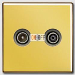 Розетка телевизионная проходная TV FM, диапазон частот от 4 до 2400 MГц GO2990TV - S2900-10