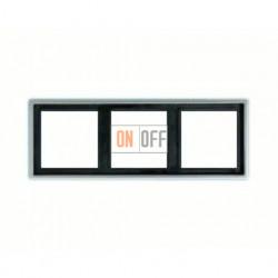 Рамка тройная, для горизон./вертик. монтажа Jung LS 990, алюминий al2983