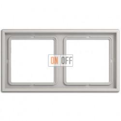 Рамка на 2 поста, горизонтальная/вертикальная, Jung LS 990, светло-серый LS982LG