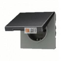 Розетка с заземляющими контактами 16 А / 250 В~, с откидной крышкой и уплотнительной мембраной IP44 551WU - AL1520KLAN