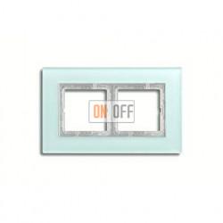 Рамка двойная, для горизон./вертик. монтажа Jung LS Plus, матовое стекло LSP982GLAS