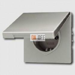 Розетка с заземляющими контактами 16 А / 250 В~, с откидной крышкой и уплотнительной мембраной IP44 551WU - ES1520KL