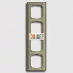 Рамка четверная, для вертикального монтажа Jung SL 500, золотая бронза sl584gb