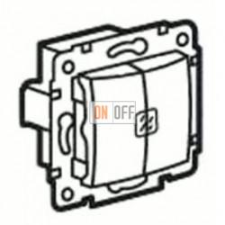 Выключатель двухклавишный с подсветкой, 10 А / 250 В~ 505u5 - sl595ko5gb