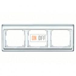 Рамка тройная, для горизонтального монтажа Jung SL 500, белое стекло sl5830ww