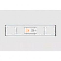 Рамка пятерная, для горизонтального монтажа Jung SL 500, белое стекло sl5850ww