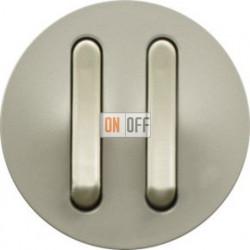 Выключатель с тонкими клавишами двойной Legrand Celiane 6А  (титан) 65102 - 67001 - 67001 - 80251