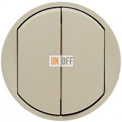 Выключатель двухклавишный (универсальный) Legrand Celiane 10А (слоновая кость) 66201 - 67001 - 67001 - 80251