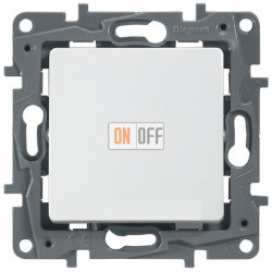 Выключатель на винтах 10АX  Etika (белый) 672201
