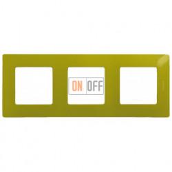 Трехместная рамка Legrand Etika зеленый папоротник 672543