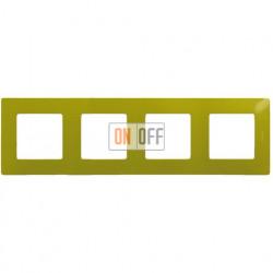 Четырехместная рамка Legrand Etika зеленый папоротник 672544