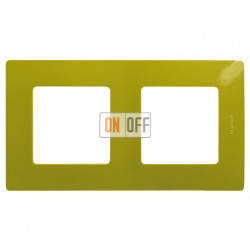 Двухместная рамка Legrand Etika зеленый папоротник 672542