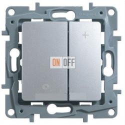 Светорегулятор нажимной 400Вт Etika (алюминий) 672418