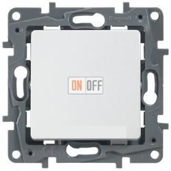 Выключатель с контурной подсветкой на винтах 10АХ Etika (белый) 672203
