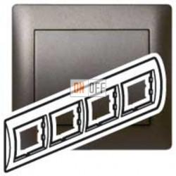 Рамка четверная, для горизонтального монтажа Legrand Galea Life, темная бронза 771204