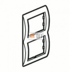 Рамка двойная, для вертикального монтажа Legrand Galea Life, красный металл 771906