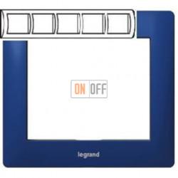 Рамка пятерная, для горизонтального монтажа Legrand Galea Life, синий металл 771915